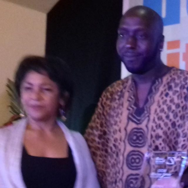 Kei Miller post prize with Marina Miss Bocas as Profhellip