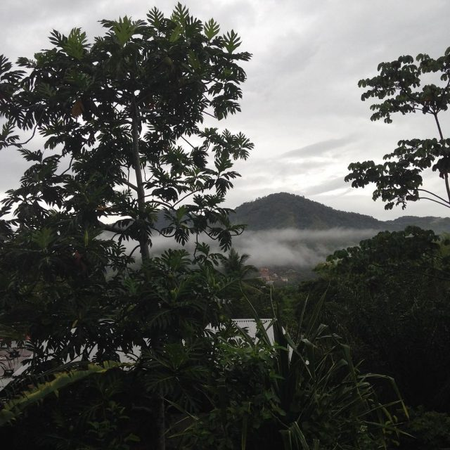Rainy Monday in the Valley trinidad rainyseason arethoseactualclouds rain