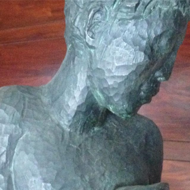 Detail of a Louise Kimme sculpture in the lobby ofhellip
